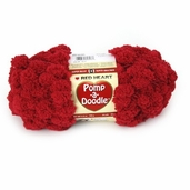 Red Heart Pomp-A-Doodle Yarn - Red Velvet