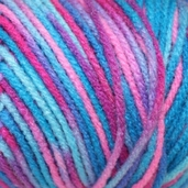 Red Heart Super Saver Yarn - Economy Size - bonbon print