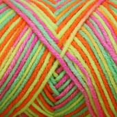 Red Heart Super Saver Yarn - Economy Size - Day Glow