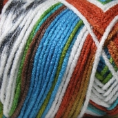 Red Heart Super Saver Yarn - Economy Size - Peruvian Print