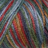 Red Heart Super Saver Yarn - Economy Size - williamsburg print