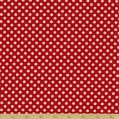 Redwork Renaissance Cotton Fabric - Red Dot