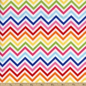 Remix Chevron Cotton Fabric - Bright AAK-10394-195 BRIGHT