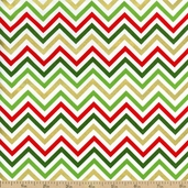 Remix Chevron Cotton Fabric - Holiday