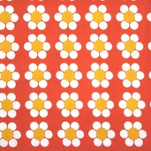 Remix Cotton Fabric - Daisy Tangerine