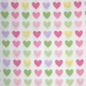 Remix Cotton Fabric - Hearts Spring