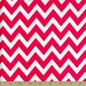 Remix Flannel Chevron Fabric - Azalea