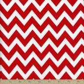 Remix Flannel Chevron Fabric - Cherry