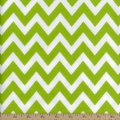 Remix Flannel Chevron Fabric - Kiwi