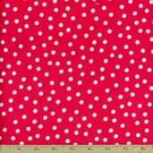 Remix Flannel Dots Fabric - Hot Pink