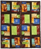 Rhapsody Color Panel Cotton Fabric - Brown 107-02
