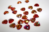Rhinestone Hearts - Red - Clearance