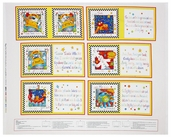 Rhyme Time Soft Book Panel Cotton Fabric