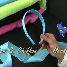 Ribbon and Chiffon Wrapped Headbands Video