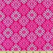 Ribbons of Hope Icons Cotton Fabric - Pink