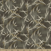 River Mist Bamboo Cotton Fabric - Grey