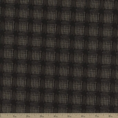 River Mist Etched Cotton Fabric - Black