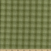 River Mist Etched Cotton Fabric - Green