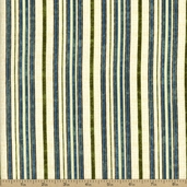 Robert Kaufman Nature's Flora Stripe Cotton Fabric - Nature - CLEARANCE