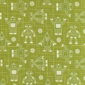 Robot Factory Organic Cotton Fabric - Green