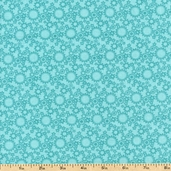Rockets & Robots Gears Cotton Fabric - Turquoise 01572-84
