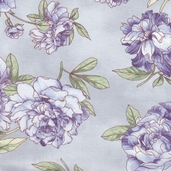 Romance Cotton Fabric - Purple Floral