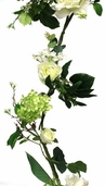 Rose and Hydrangea Garland - Cream Green - Clearance