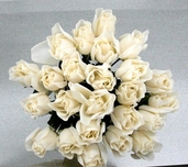 Rose Bud Spray pkg of 24 - Cream White - Clearance