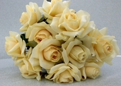 Rose Spray Open 20 in Pkg of 12 - Yellow