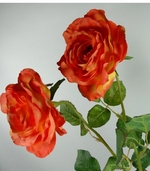 Rose Spray Open - 28in - Pkg of 24 - Orange