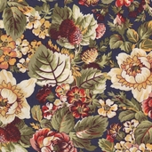 Rosetree Cottage Cotton Fabric - Navy - CLEARANCE