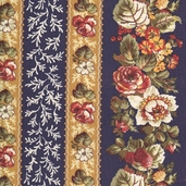 Rosetree Cottage Cotton Fabrics - Navy - Clearance