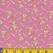Rosie's Garden Cotton Fabric - Pink -CLEARANCE