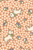 Rosie's Garden Cotton Fabric - Puppies and Toys on Peach - CLEARANCE