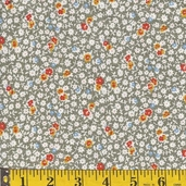 Rosie's Garden Cotton Fabric - Tiny Flowers on Green - CLEARANCE