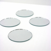 Round Craft Mirror 2 in - 4 Pkgs
