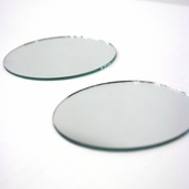 Round Craft Mirror 3 in - 4 Pkgs