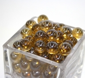 Round Luster Marbles - Amber
