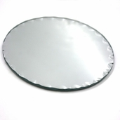 Round Scalloped Craft Mirror 5 in - 2 Pkgs