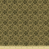Royal Gardens Cotton Fabric - Fleur Emblems - Beige