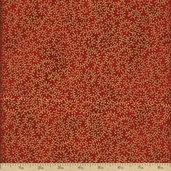 Royal Peacocks Cotton Fabric - Garnet Gold J9216-231