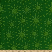 Royal Retro Stars Cotton Fabric - Green