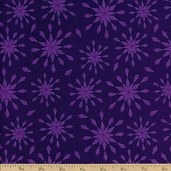 Royal Retro Stars Cotton Fabric - Purple