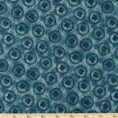 Rustic Living Medallions Cotton Fabric - Teal 1649-22696-Q