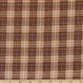 Rustic Living Plaid Cotton Fabric - Brown 1649-22698-A