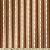 Rustic Living Stripe Cotton Fabric - Beige/Brown 1649-22699-A
