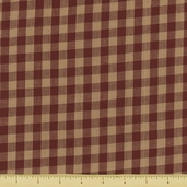 Rustic Woven 3/8 Check Cotton Fabric - 103