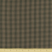 Rustic Woven Plaid Cotton Fabric - Sage 208