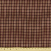 Rustic Woven Small Plaid Cotton Fabric - 923