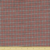 Rustic Woven Small Plaid Cotton Fabric - Rose RW0097